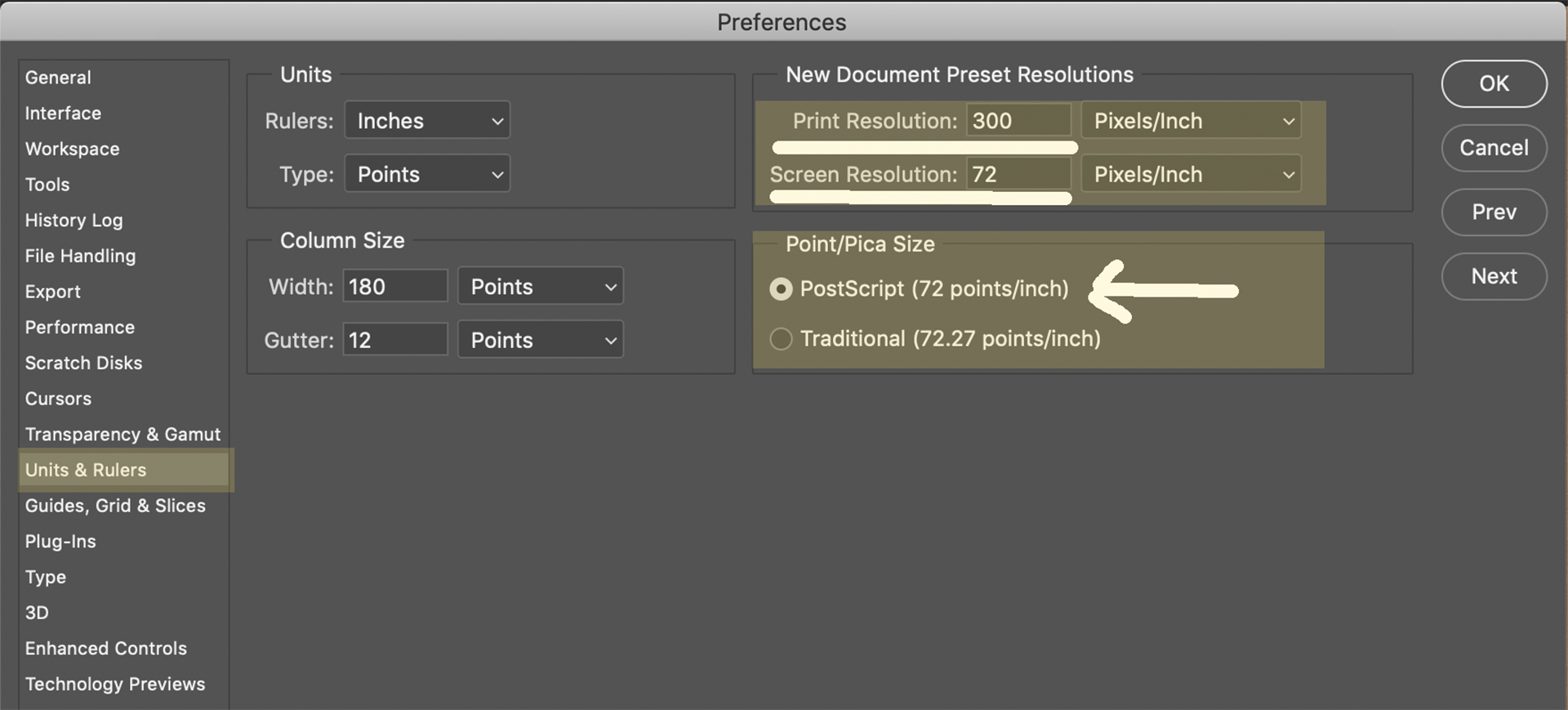 Adobe Photoshop Preferences